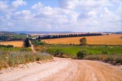 Felder und Landschaft Lizenzfreies Stockbild