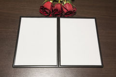 Felder und Rosen Stockbilder