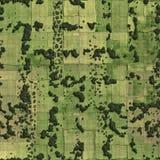 Felder und Wiesenvogelansicht Lizenzfreie Stockfotografie