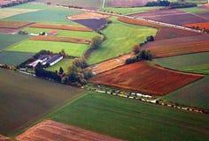 Felder von der Fläche nahe München, Deutschland Stockbild