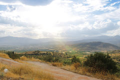 Felder von Griechenland nahe Mycenae Lizenzfreies Stockbild
