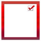 Feldform des roten Quadrats Stockbild