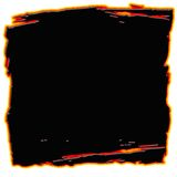 Feldform des schwarzen Quadrats Stockbild