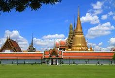 Feldgras bei Wat Pha Kaew Stockfoto