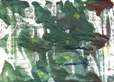Feldgrau abstract watercolor background. Hand-drawn green abstract watercolor Stock Photography
