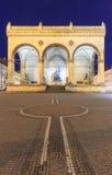 Feldherrenhalle auf Odeonsplatz nachts, München, Bayern, Deutschland Lizenzfreie Stockfotografie