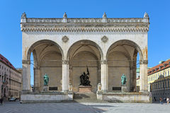 Feldherrnhalle on Odeonsplatz in Munich, Germany Stock Photography