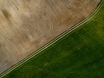 Feldhintergrund - Ansicht von oben stockfotos