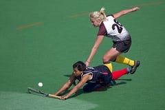 Feldhockey der Frauen Stockfotografie