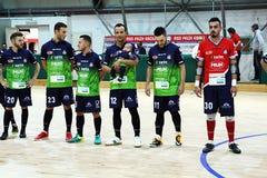 Feldi eboli. The feldi eboli futsal team before the italian match vs acqua e sapone Royalty Free Stock Images