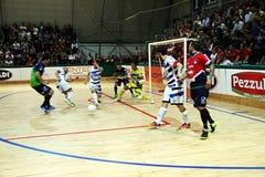 Feldi futsal. A action in the italian futsal match feldi eboli vs acqua & sapone played Royalty Free Stock Photography