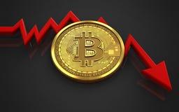 feldiagram för bitcoin 3d Arkivfoton