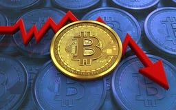 feldiagram för bitcoin 3d Arkivbilder