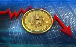 feldiagram för bitcoin 3d Stock Illustrationer