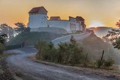 Feldioara堡垒 brasov中心城市老罗马尼亚 图库摄影