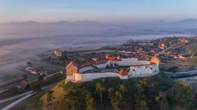 Feldioara堡垒 brasov中心城市老罗马尼亚 库存图片