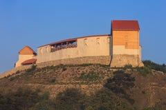 Feldioara堡垒 brasov中心城市老罗马尼亚 免版税库存照片