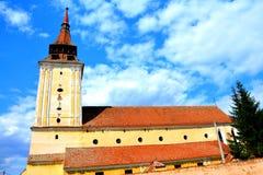 Feldioara (Marienburg) versterkte kerk royalty-vrije stock foto's