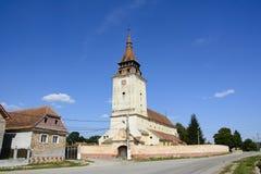 Feldioara stärkte kyrkan, Transylvania, Rumänien Royaltyfri Fotografi