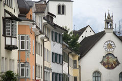 Feldkirch - casas imagens de stock royalty free