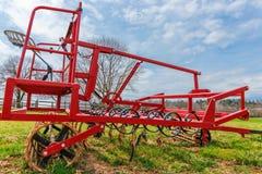Feldlandwirt Eggensystem, kultivieren den Boden stockfoto