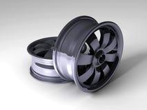 Felgen des Auto-3D Lizenzfreies Stockbild