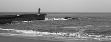 Felgueiras Lighthouse, Porto Royalty Free Stock Photography