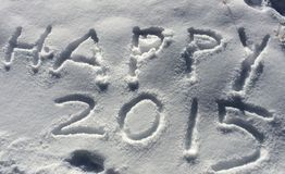 2015 felice! Immagine Stock