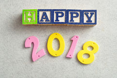 2018 felice Fotografia Stock