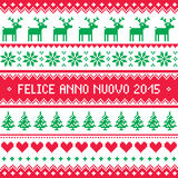 Felice Anno Nuovo 2015 - Italian happy New Year pattern Royalty Free Stock Images