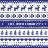 Felice Anno Nuovo 2014 - italienisches guten Rutsch ins Neue Jahr-Muster Lizenzfreie Stockfotografie