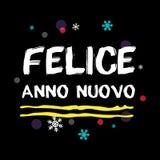 FELICE ANNO NUOVO Szczęśliwy nowy rok włoszczyzny powitanie Zdjęcia Stock