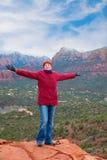 Felice in Arizona Fotografia Stock