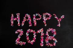 2018 felice con i coriandoli Immagine Stock Libera da Diritti