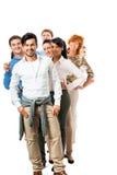 Felice di diversità del gruppo di affari isolato Immagini Stock