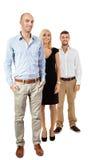 Felice di diversità del gruppo di affari isolato Fotografie Stock