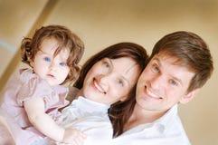 Felice-famiglia Immagini Stock