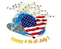 Felice il quarto luglio Immagini Stock Libere da Diritti