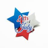 Felice il quarto luglio Fotografia Stock Libera da Diritti