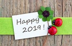 Felice, Lucky New Year 2019 Fotografie Stock