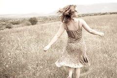 Felice in natura Fotografia Stock Libera da Diritti
