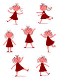 Felice, ragazza di dancing Immagine Stock Libera da Diritti