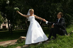 Felice sposato Fotografia Stock Libera da Diritti