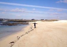Felice sulla spiaggia Fotografia Stock Libera da Diritti