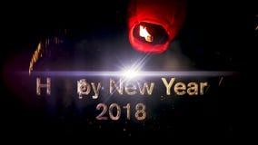 2018 Felices Año Nuevo almacen de metraje de vídeo