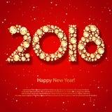 2018 Felices Año Nuevo Fotos de archivo libres de regalías
