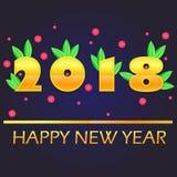 2018 Felices Año Nuevo Foto de archivo libre de regalías