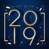2019 Felices Año Nuevo libre illustration