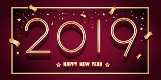 2019 Felices Año Nuevo ilustración del vector