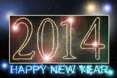 2014 Felices Año Nuevo Imagen de archivo libre de regalías
